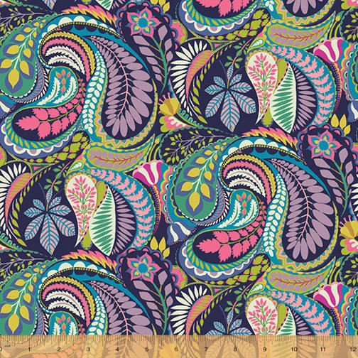 WINDHAM FABRICS, Solstice by Sally Kelly - Prince Paisley Multi