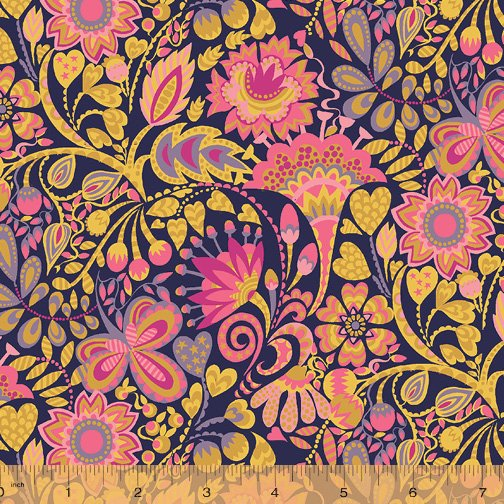 WINDHAM FABRICS, Solstice by Sally Kelly - Windy Ochre