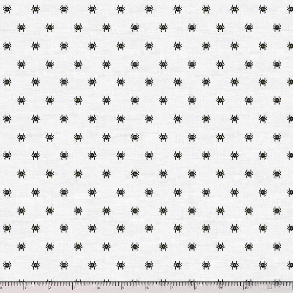 Paintbrush Studio Fabrics,  Halloween Night - Spider White