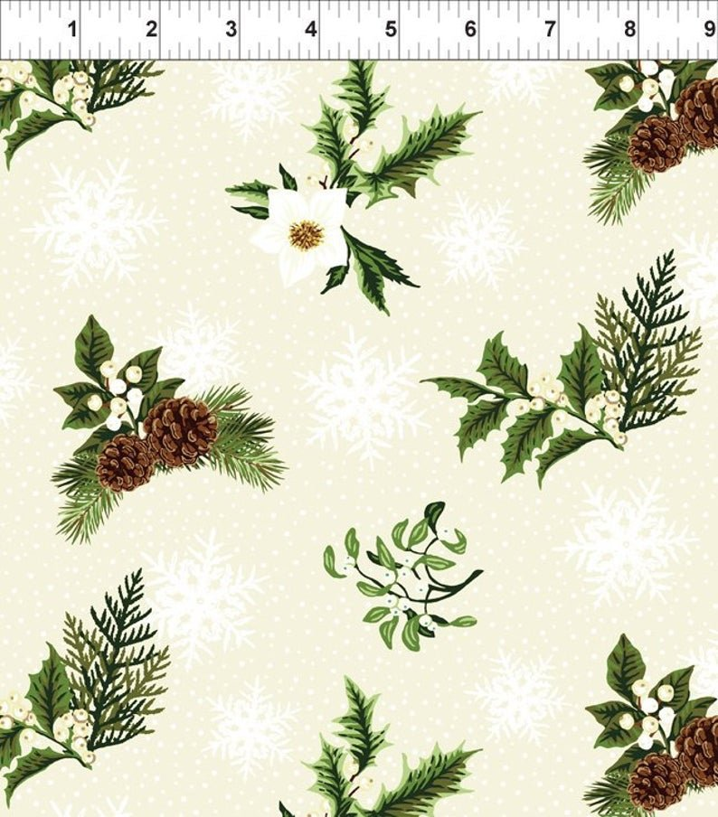 In the Beginning Winter Twist - Cream Sprig