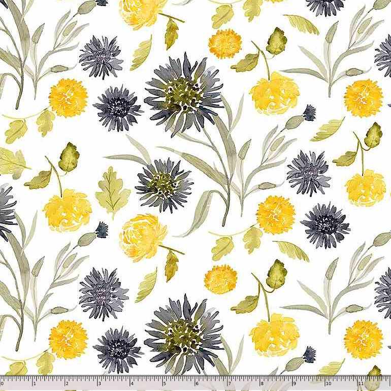 Dear Stella, Meant to Bee - Mums & Cornflowers - White
