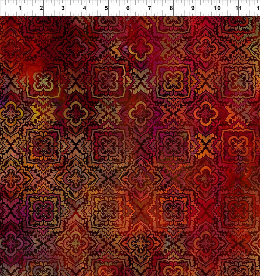 In the Beginning Tapestry - Red Medallion
