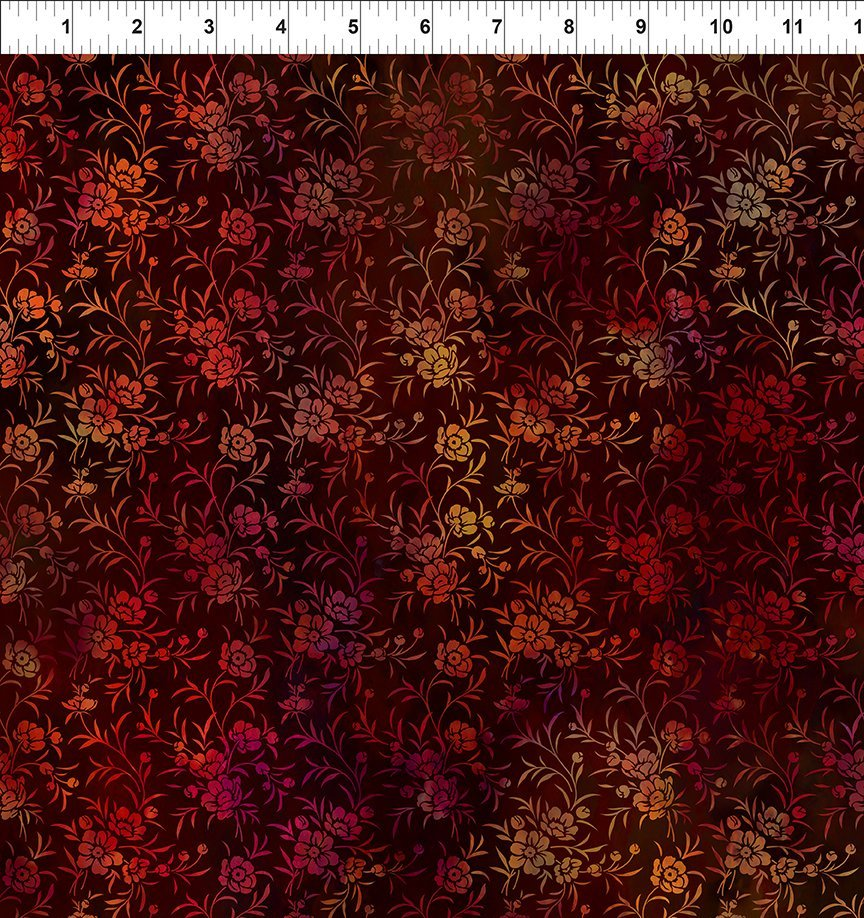 In the Beginning Tapestry - Red Sprigs