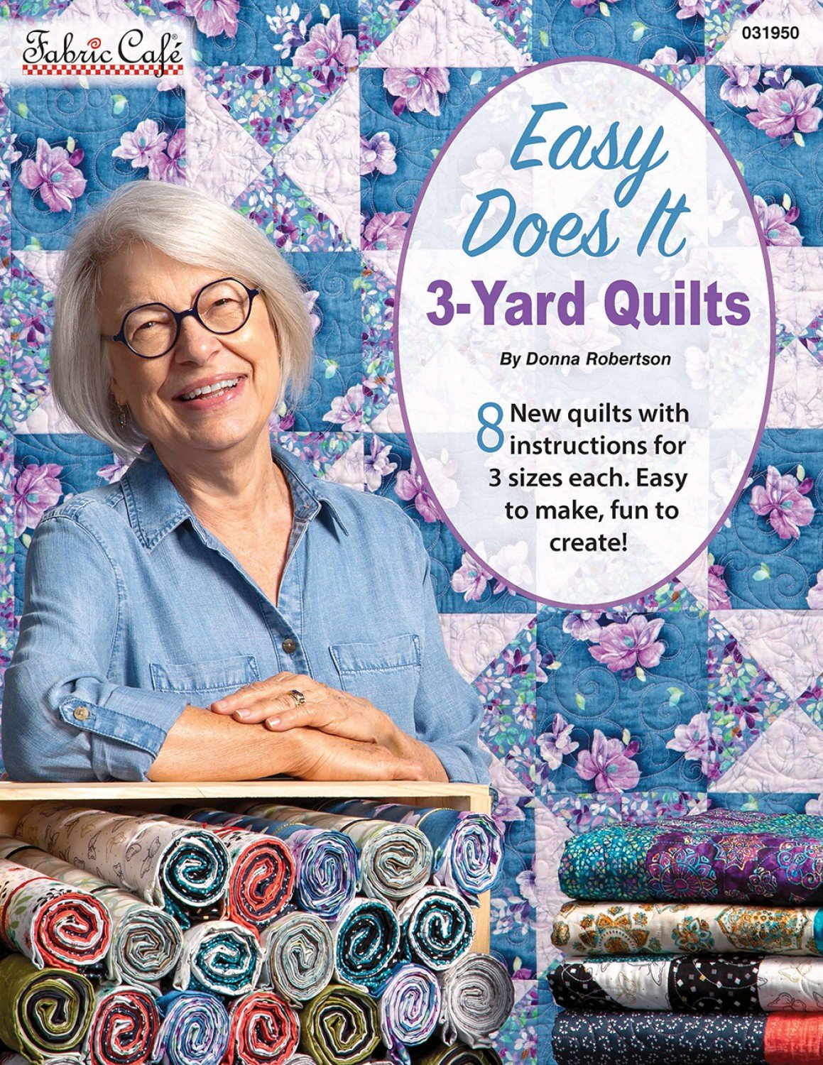 Book - Fabric Cafe - Easy Does It -  3 Yard Quilts