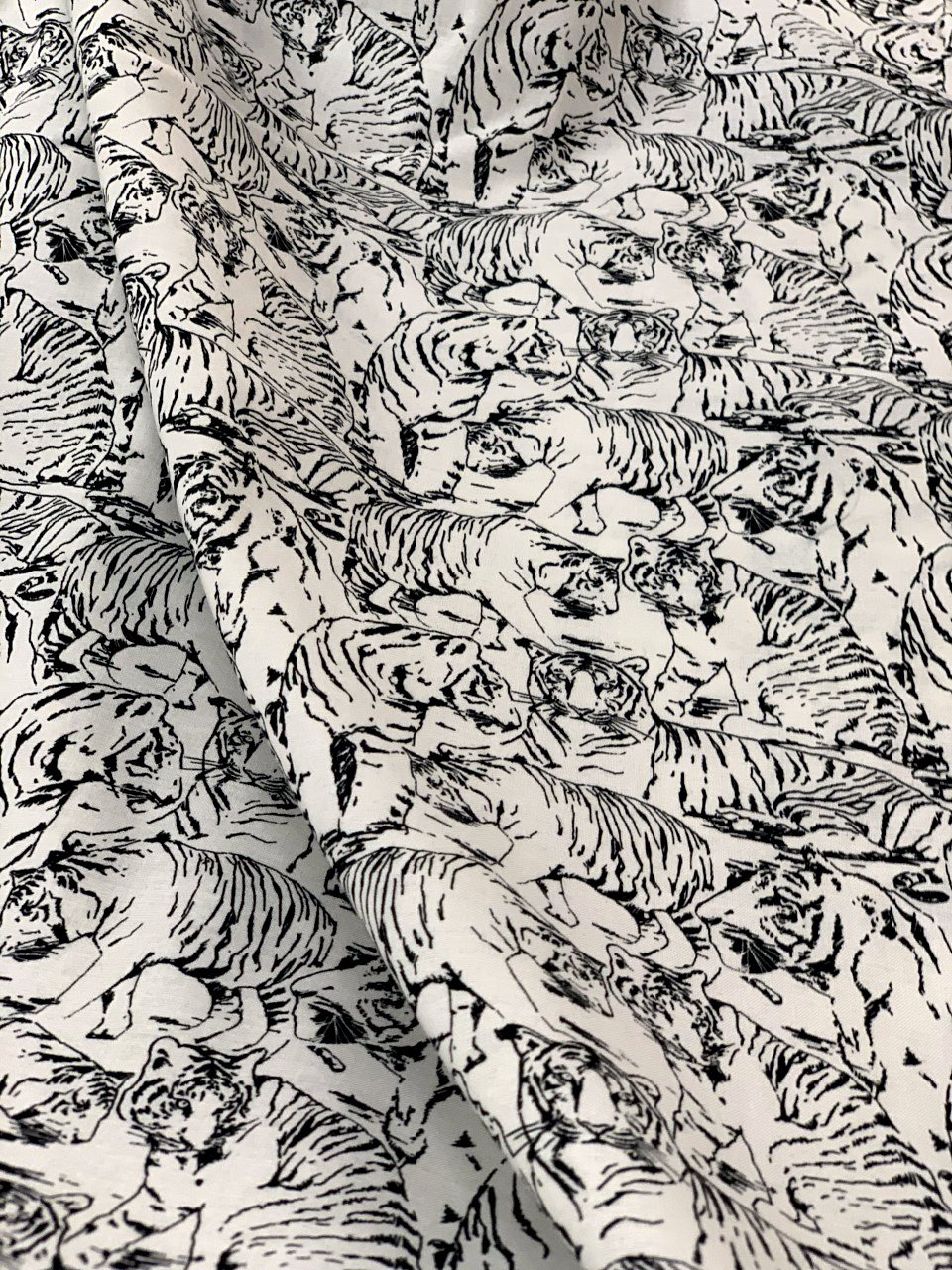 Tiger Tales, White Toile, By Northcott