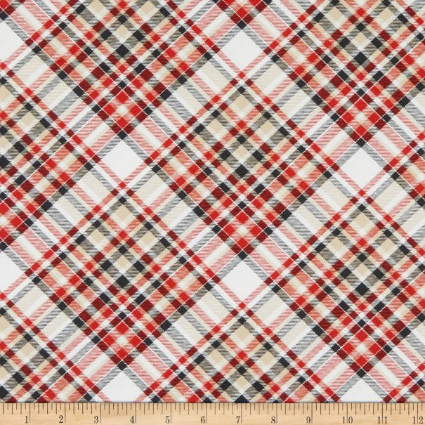 Timber Gnomies for Henry Glass by Shelly Comiskey - Bias Plaid Multi