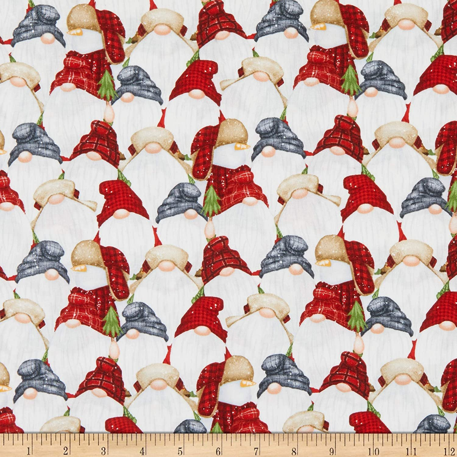 Timber Gnomies for Henry Glass by Shelly Comiskey - Stacked Gnomes Multi