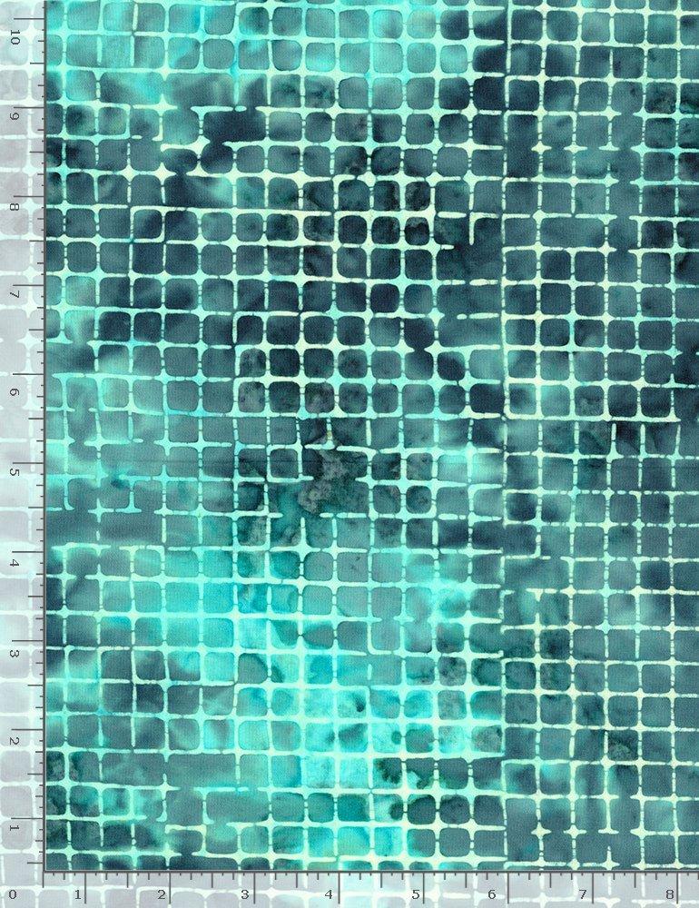 Timeless Treasures, Tonga Ibiza Batik - Grid Deep