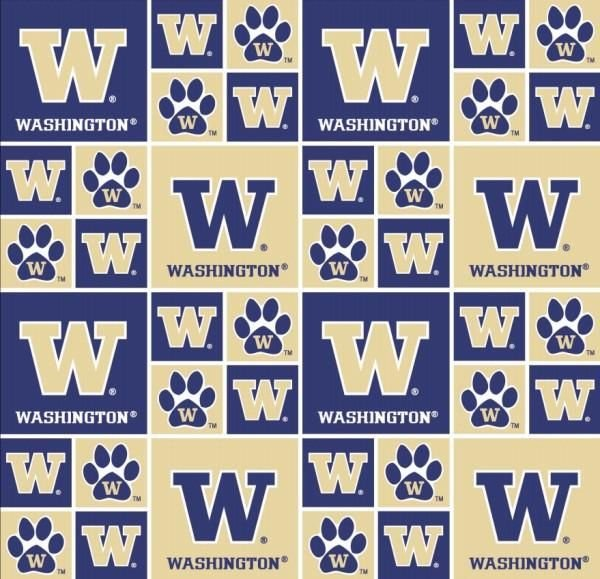 University of Washington Patch - 100% Cotton