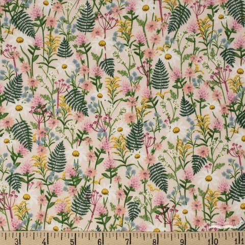 Cotton + Steel, Wildwood Pink Wildflowers