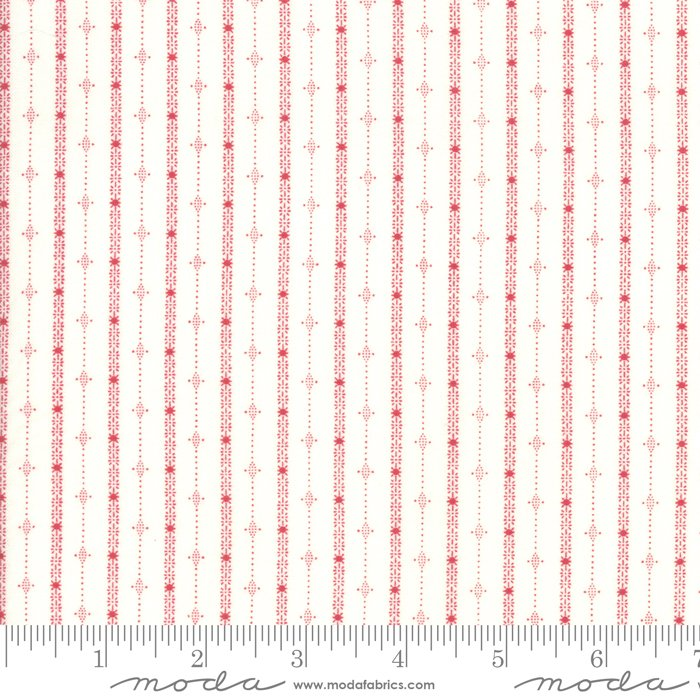 Moda, Country Christmas - Winter White Stripe