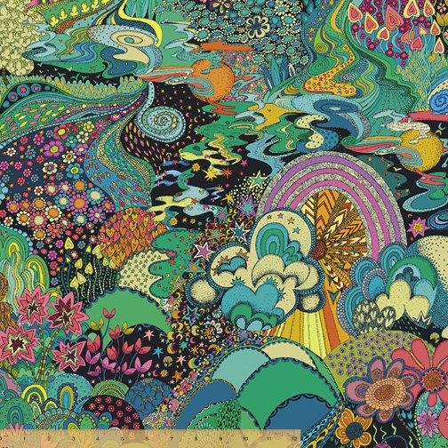 WINDHAM FABRICS, Paradiso by Sally Kelly - Xanadu Midnight