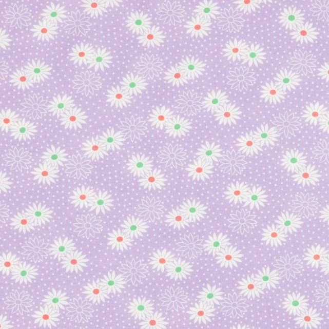 30's Playtime Favorites Dotty Daisy Lilac