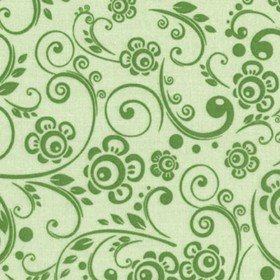 108 Wide Back Overtones Floral Swirl Pine Green