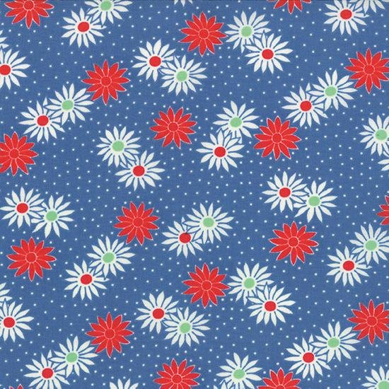 30's Playtime Favorites Dotty Daisy Blue