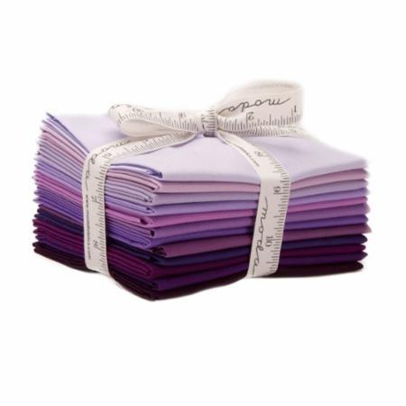 Bella Solids AB 12 Fat Quarter Bundle Purple