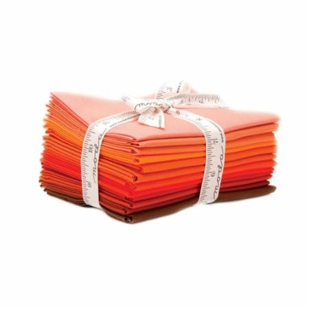 Bella Solids AB 12 Fat Quarter Bundle Orange