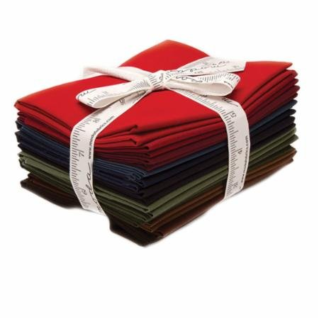Bella Solids AB 12  Fat Quarter Bundle Darks