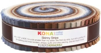 Skinny Strips Kona Solids Neutral Colorway 41pcs 1 1/2in