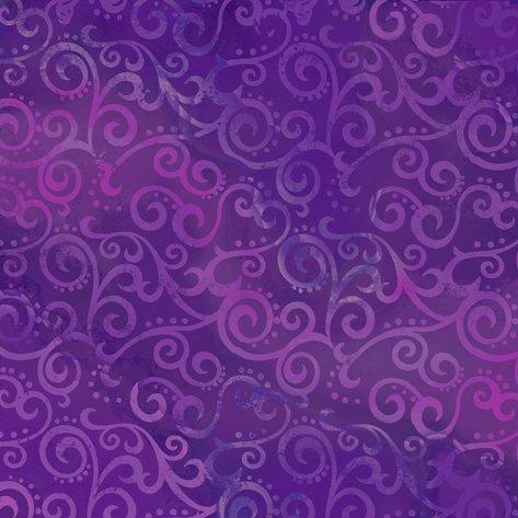108 Wide Back Ombre Scroll Grape