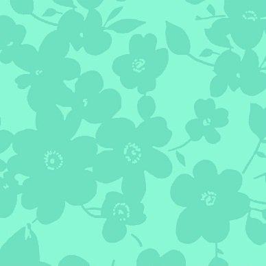 108 Wide Back Tonal Floral Jade