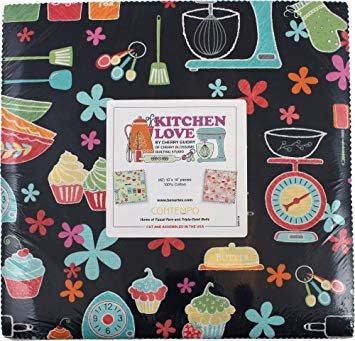 Kitchen Love 10in Squares 42pcs