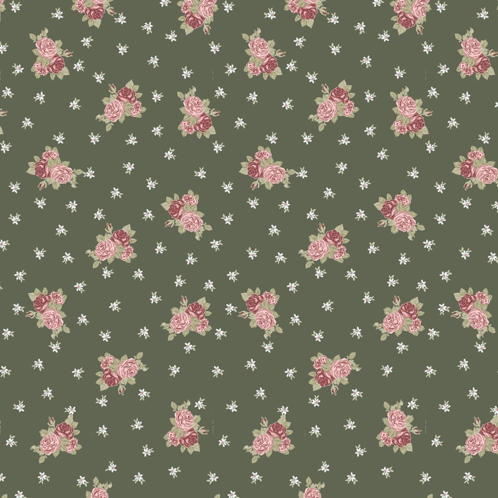 Bella Rosa Green with Red Roses Petite