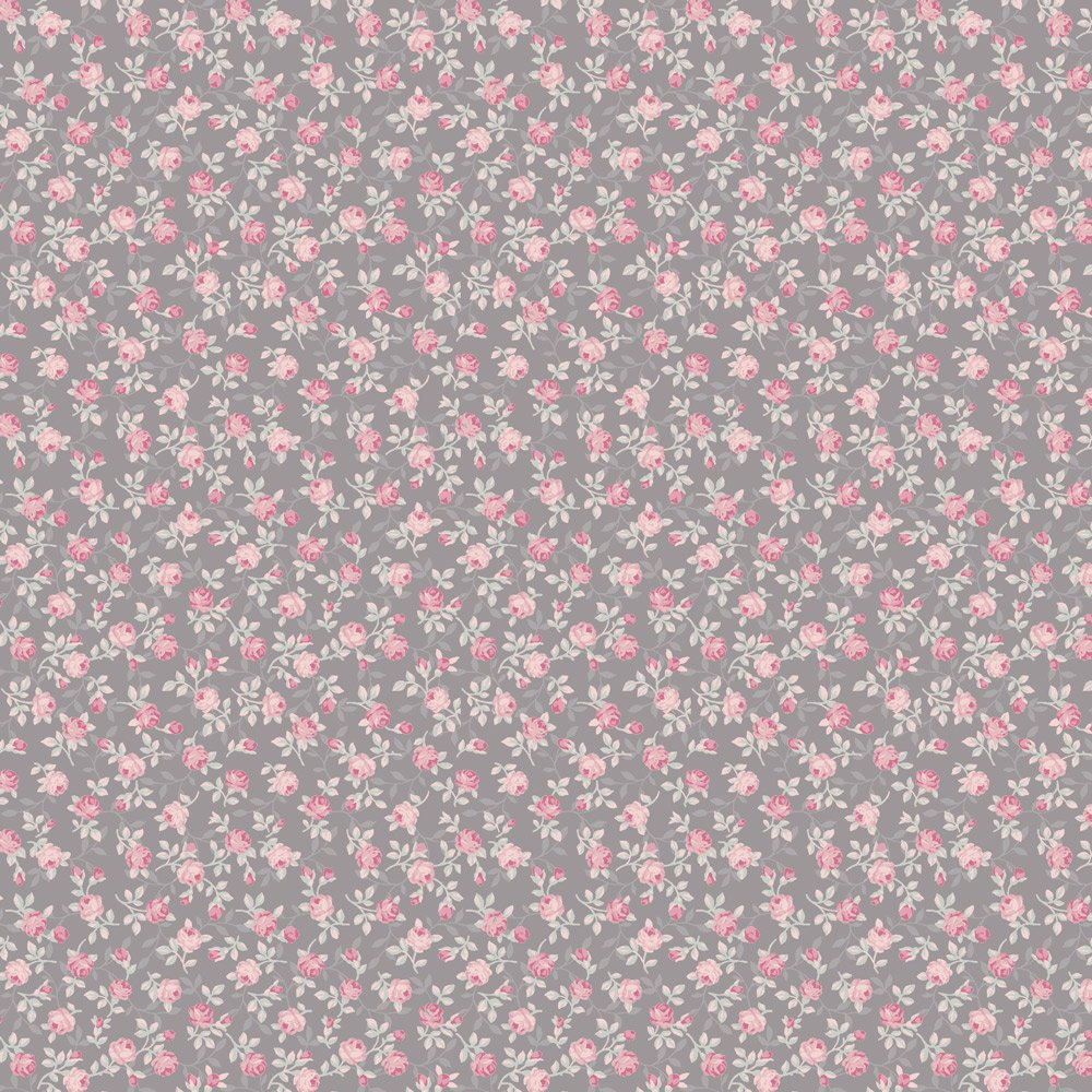 Bella Rosa Gray with Small Pink Roses