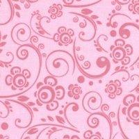 108 Wide Back Overtones Floral Swirl Pink