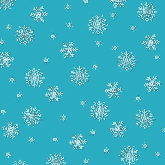 Frosty Flakes Turquoise Snowflakes