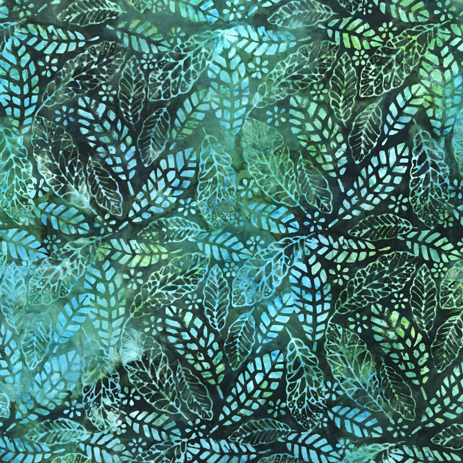 Benartex Tropical Nights Balis Rock Leaf Emerald