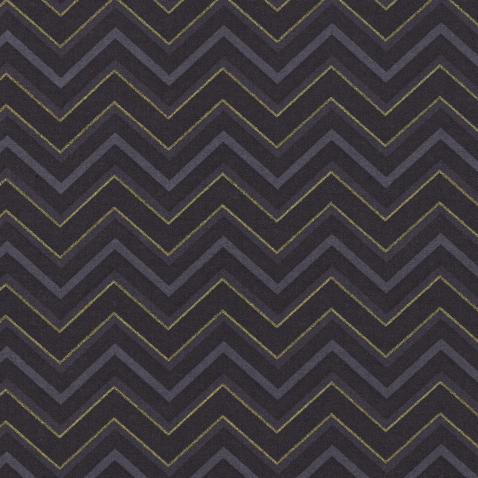 Crafty Cottons Chevron Grey and Gold