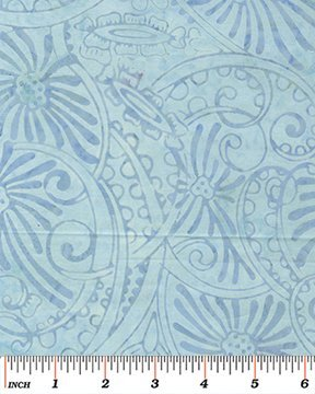 Benartex Sun-tastic Balis Floral Swirl Light Blue