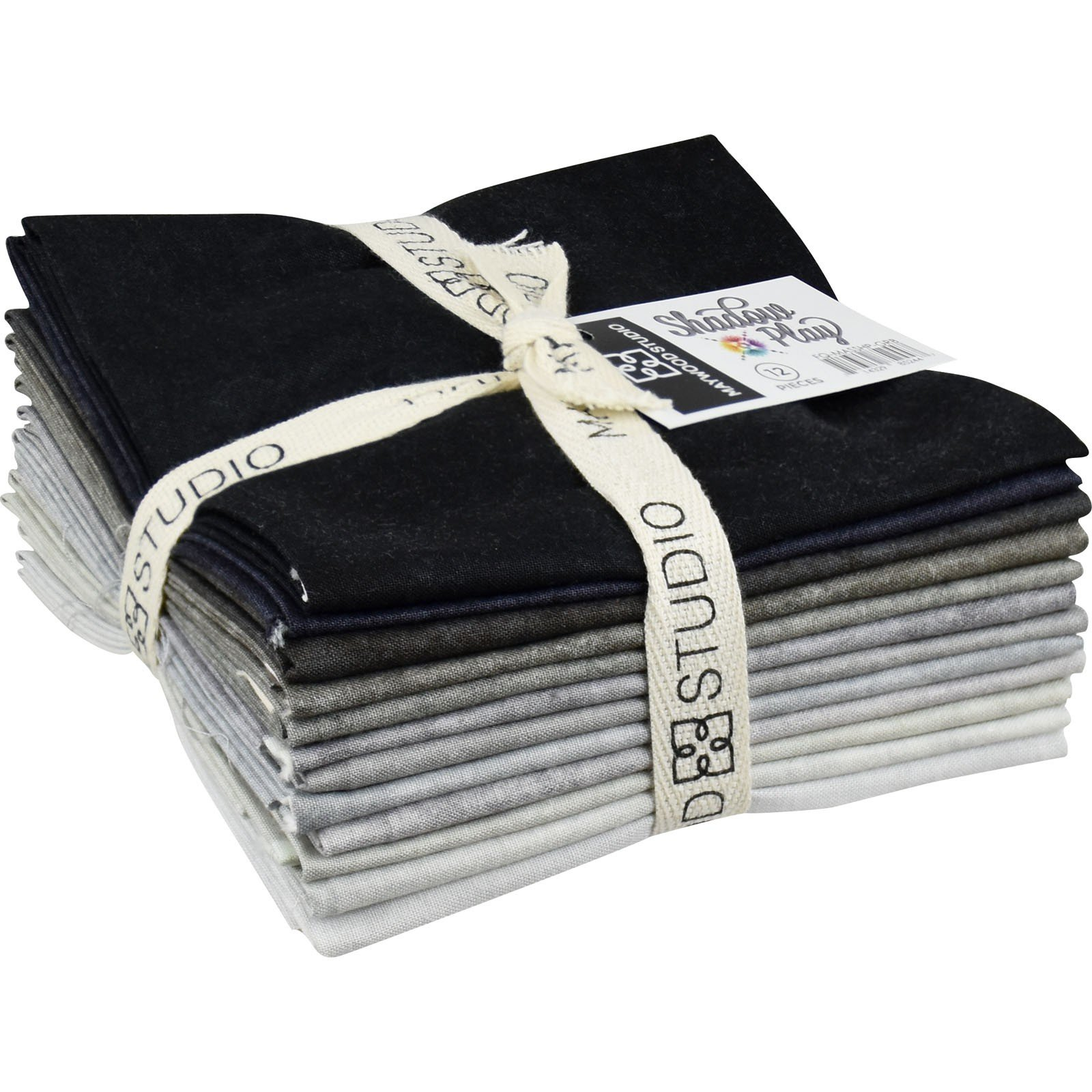 Shadow Play Fat Quarter Bundle Greys & Blacks (14) Pieces