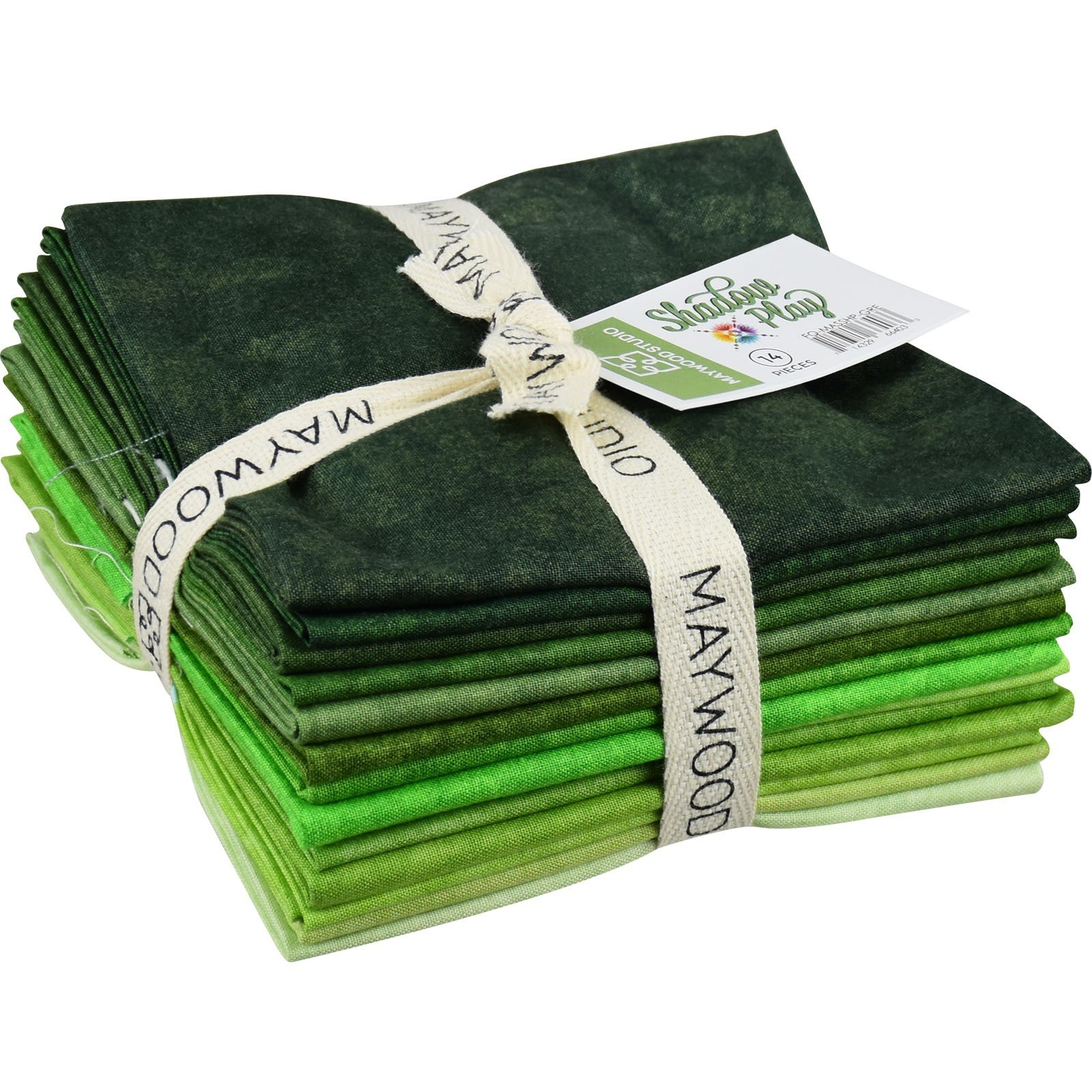 Shadow Play Fat Quarter Bundle Greens (12) Pieces