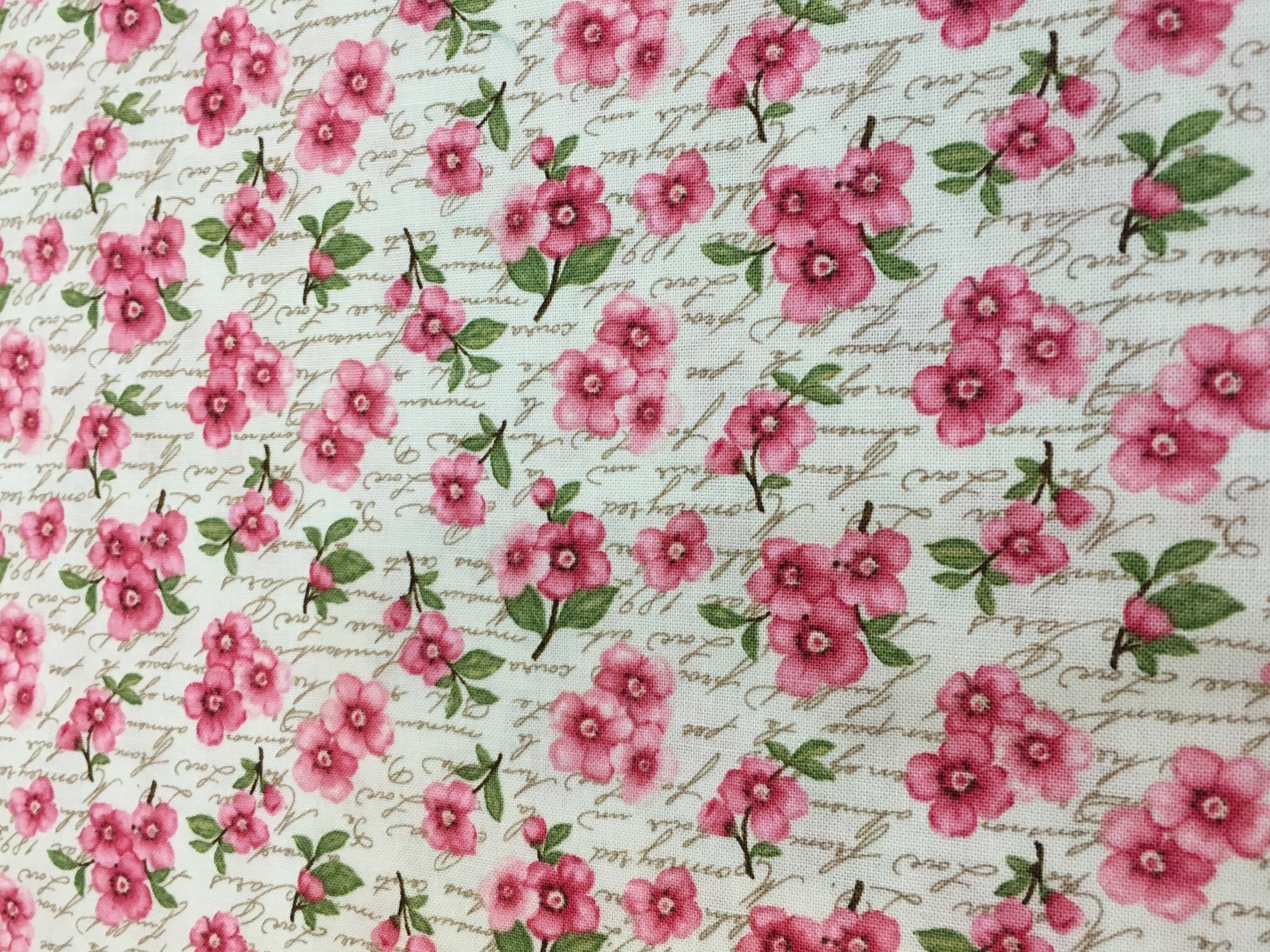 Cherry Blossom Love tan with Pink flowers