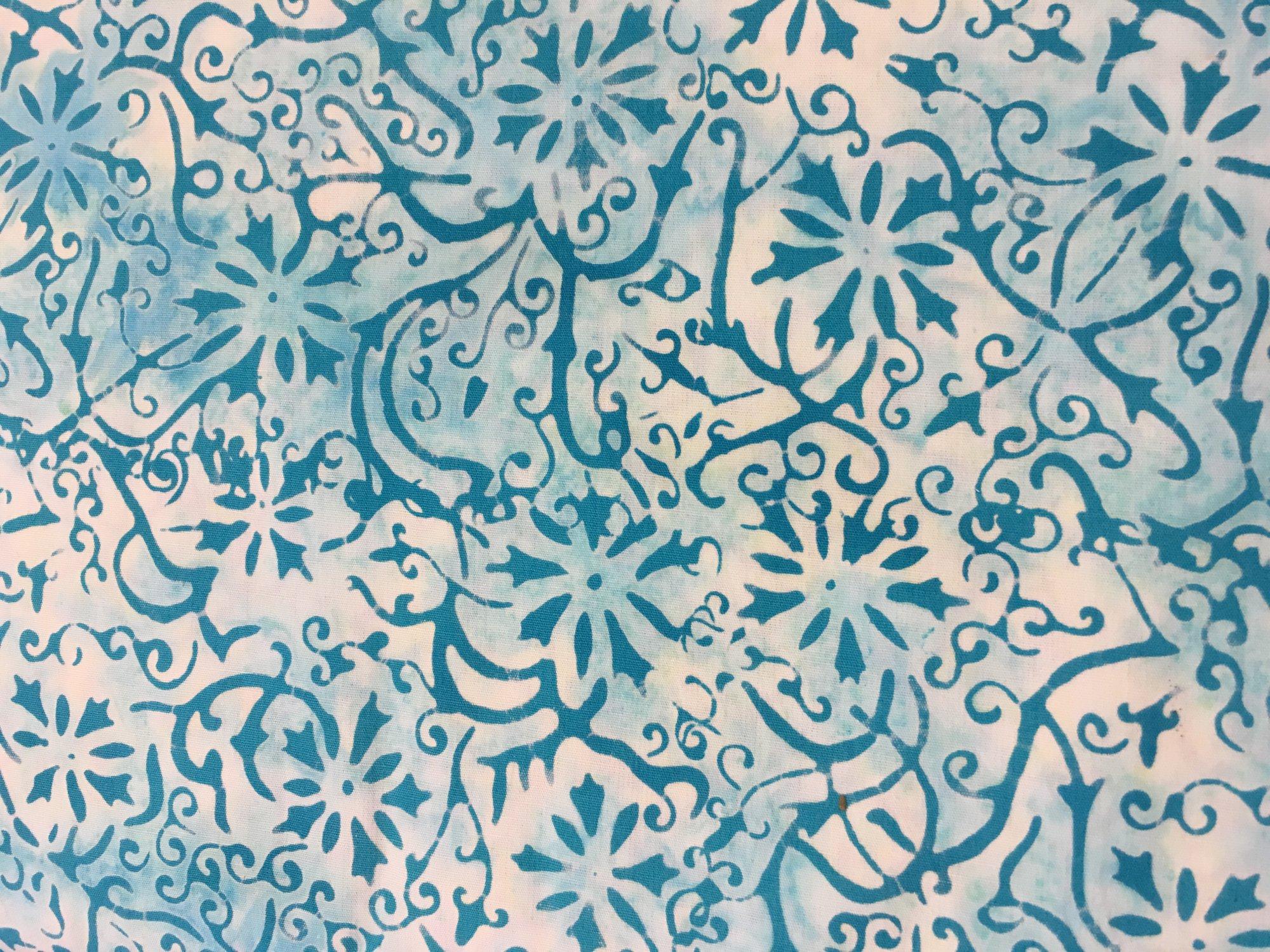 Batik Textiles Sea Spots Teal