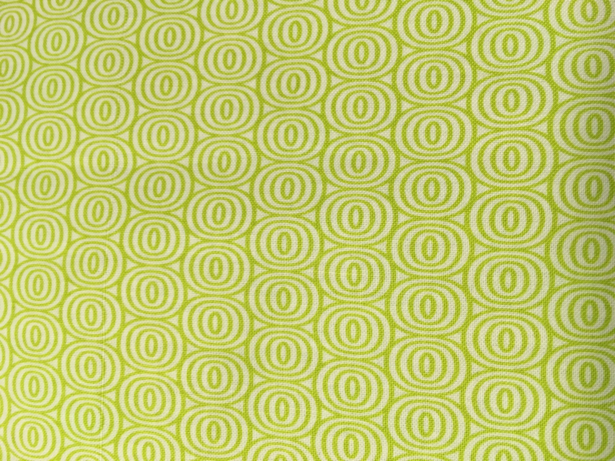 Citron Twist Green with White Circles