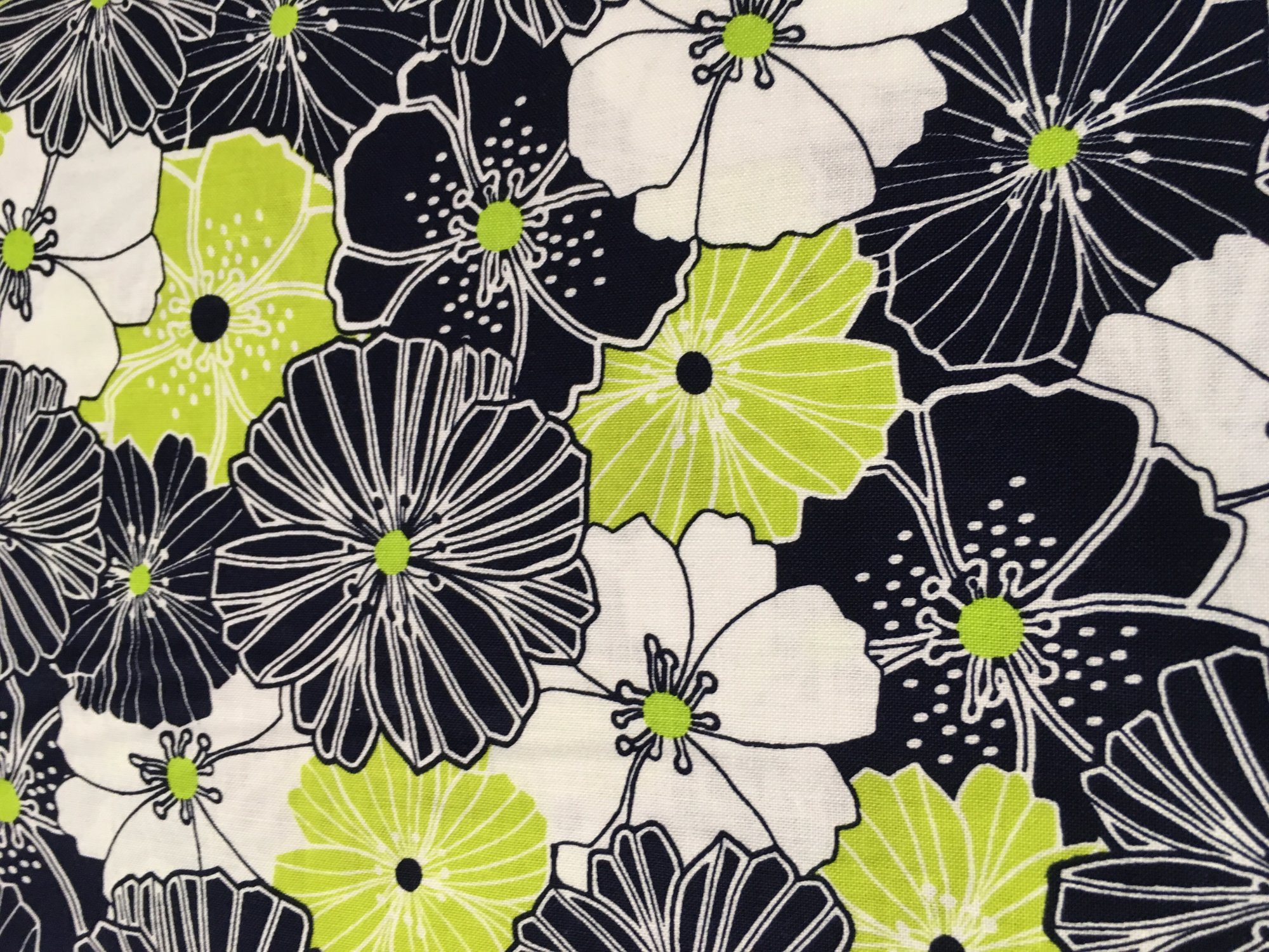 Citron Twist Green, white, and black flowers