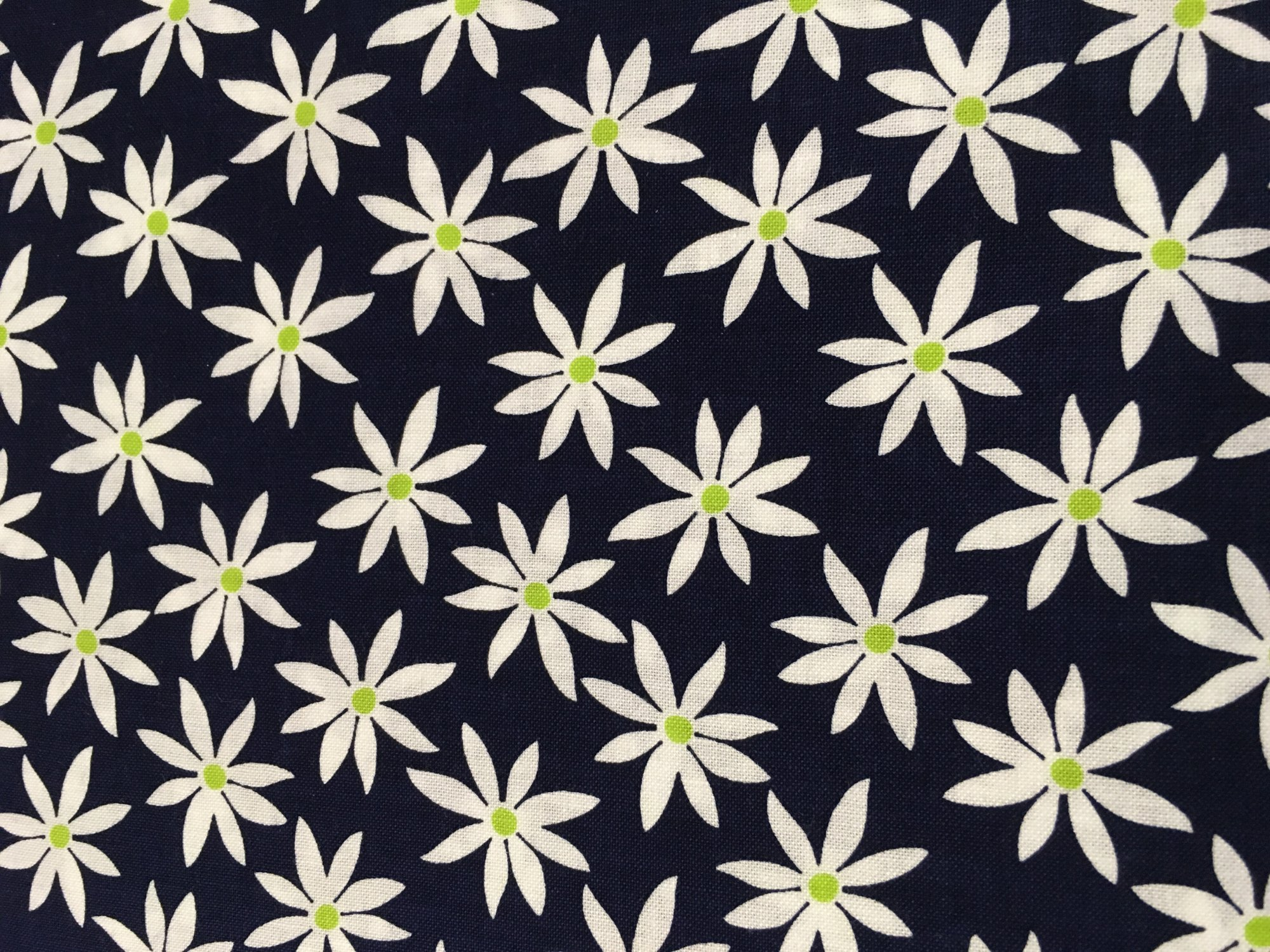 Citron Twist Black with white flowers