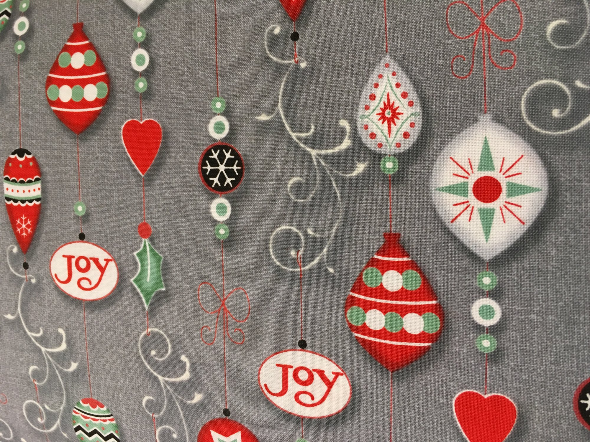 Christmas Wishes Grey Ornaments
