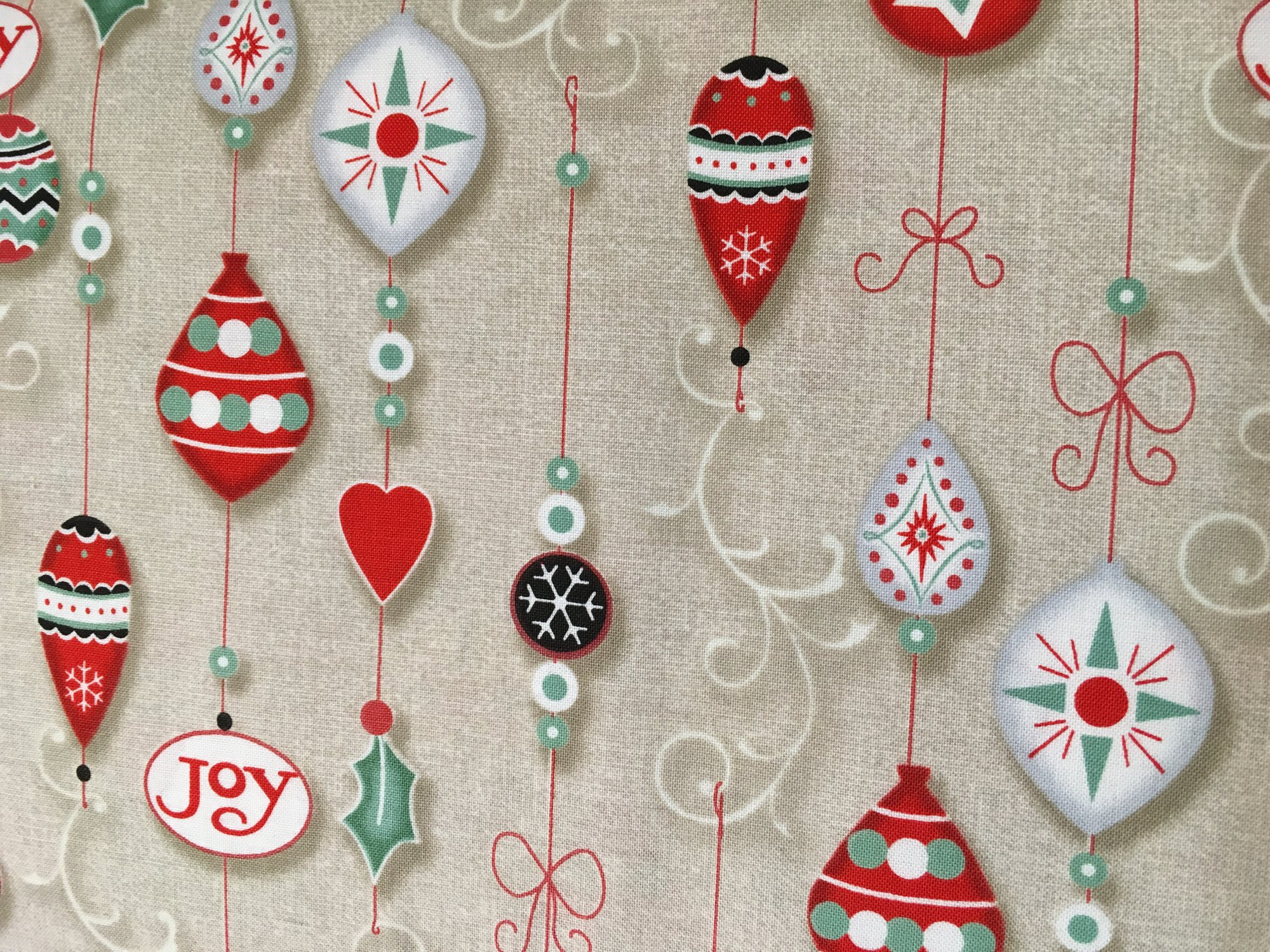 Christmas Wishes Linen Ornaments