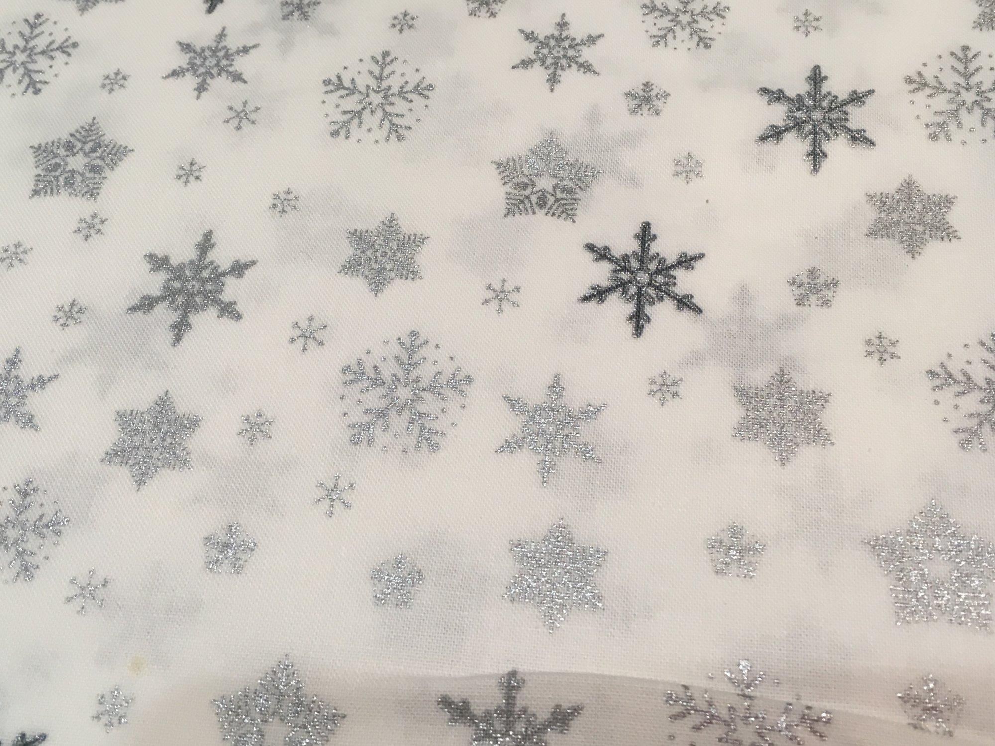 Glimmering white w/silver stars