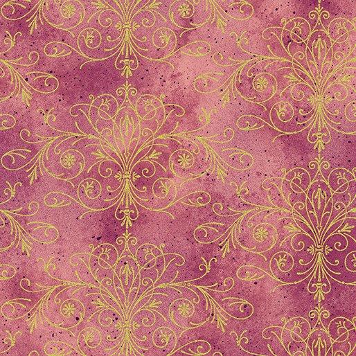 Floral Impressions Washed Tonal Filigree Rose/Gold