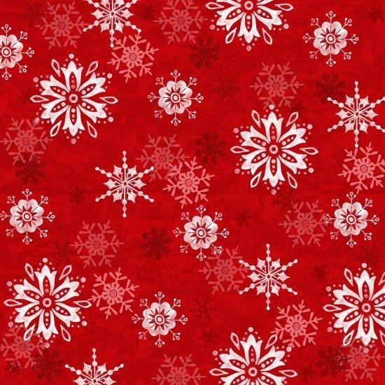 Winter Joy Snowflake Red