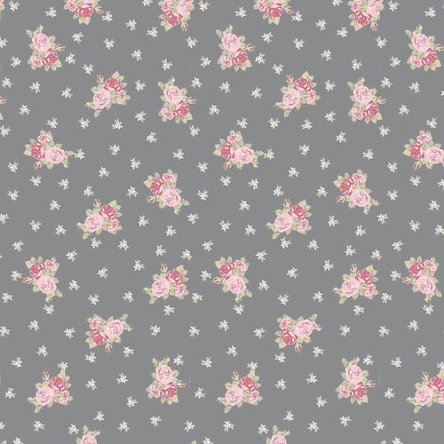 Bella Rosa Gray with Red Roses Petite