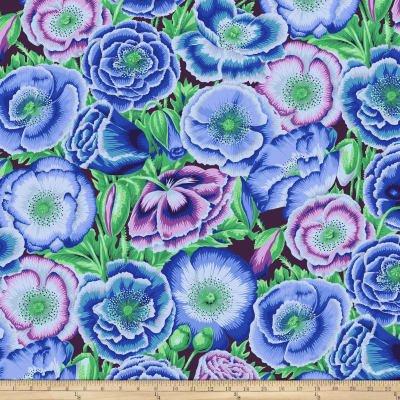 Poppy Garden Blue PWPJ095  Kaffe Fassett