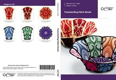 12625CD OESD-Freestanding Fabric Bowls CD EMB Pattern