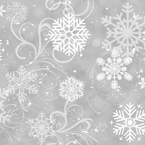 1906 Grey Swirling Snowflakes 1637 90