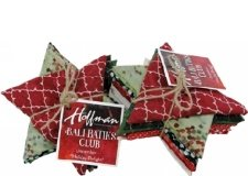 1911 Bali Batik Club December Holiday Delight Fat Quarters  Hoffman